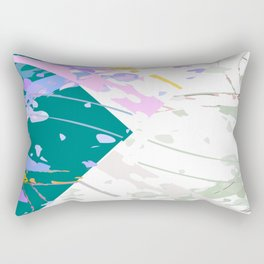 Angular Abstract Turquoise Rectangular Pillow