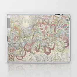 Beautiful Map of the Lower Mississippi River Laptop & iPad Skin