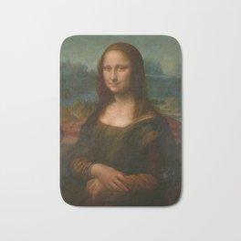 Mona Lisa Classic Leonardo Da Vinci Painting Bath Mat