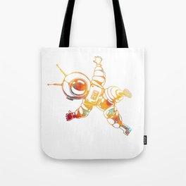 Orange Astronaut Cosmonaut Spaceman Funny Galaxy Space Tote Bag