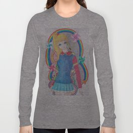 Rainbow Brite- inspired Long Sleeve T-shirt