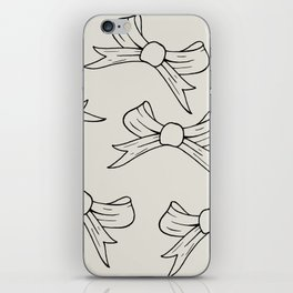 Elegant Bow, Black And White Bows, Christmas Bows, iPhone Skin