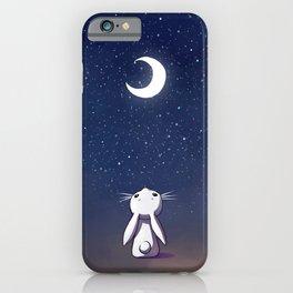 Moon Bunny iPhone Case