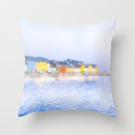 Misty Morning On The Shores Of Galway Ireland Throw Pillow