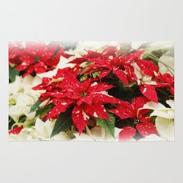 Shimmer Surprise Poinsettias Rug