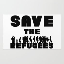 SAVE THE REFUGEES Rug