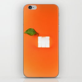 Orange out of the box iPhone Skin