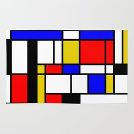 Art work inspired to P. Mondrian (n.1) Rug
