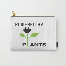 Powered by Plants Vegan Art Carry-All Pouch