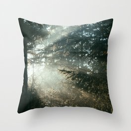 sunray madness Throw Pillow