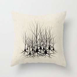 Pyramidal Neuron Forest Throw Pillow