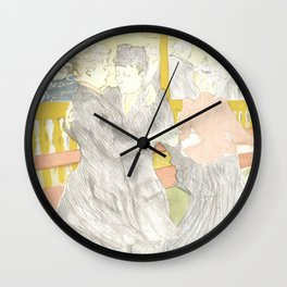"Henri de Toulouse-Lautrec ""Two Woman Dancing"" Wall Clock"