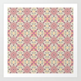 modern arabic pattern in pastel colors Art Print