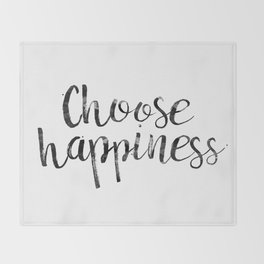 Choose Happiness Throw Blanket