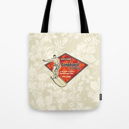 Waimea Hawaiian Surfboard Design Tote Bag