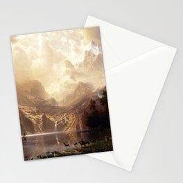 Albert Bierstadt - Among the Sierra Nevada, California Stationery Cards