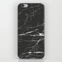 Black & White Marble iPhone Skin