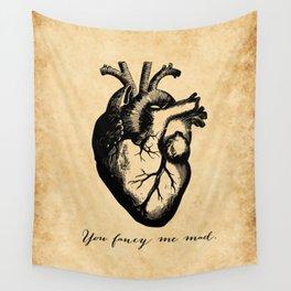 Edgar Allen Poe - Tell Tale Heart - You Fancy Me Mad Wall Tapestry