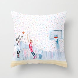 A Three Wins the Series Throw Pillow