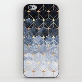 Blue Hexagons And Diamonds iPhone Skin