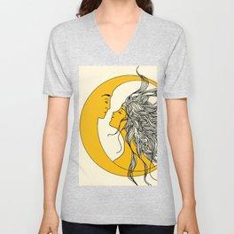 Sun and Moon Unisex V-Neck