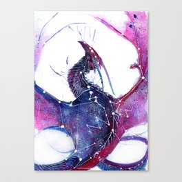 Galaxy Dragon Canvas Print