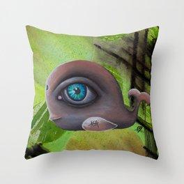 Baleine Brune Throw Pillow