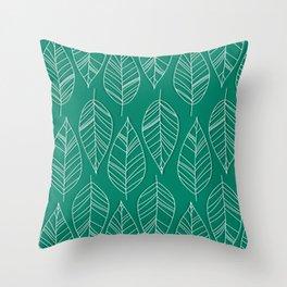 Vintage LeaesPatr Throw Pillow