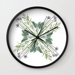Fresh Herbs Wall Clock