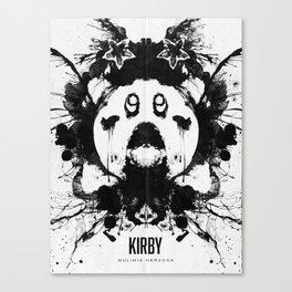 Kirby Ink Blot Geek Psychological Disorders Canvas Print