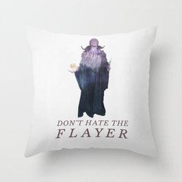 Mind Flayer (Typography) Throw Pillow
