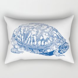 box turtle drawing, blue Rectangular Pillow