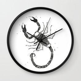 Scorpio Black/White Wall Clock