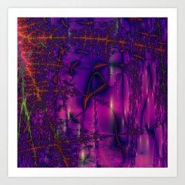 purple blue rendering pattern Art Print
