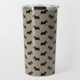 Scottish Terrier Scottie Silhouette Travel Mug