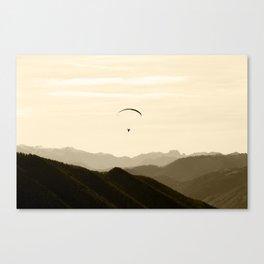 Paragliding Canvas Print