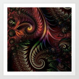 Fractal game with colors and shapes Art Print