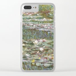 Water Lily Pond (Japanese Bridge) Clear iPhone Case