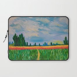 Monet's Expressionism Wheat Field Laptop Sleeve