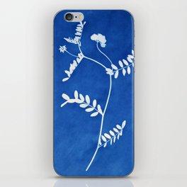 wildflower cyanotype l iPhone Skin
