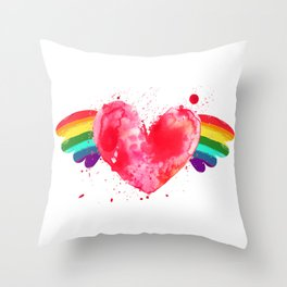 Love Wins. Throw Pillow
