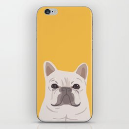 Frenchie on Yellow iPhone Skin
