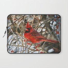 Winter Cardinal by Teresa Thompson Laptop Sleeve