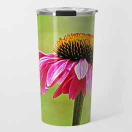 Pink Pop Coneflower Travel Mug
