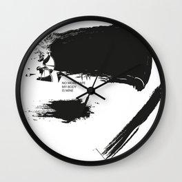 """ NO MORE RAPE "" Wall Clock"