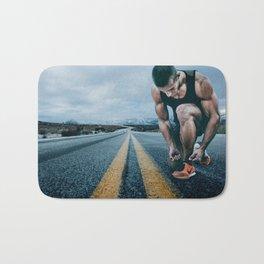 Runner on the Road Bath Mat