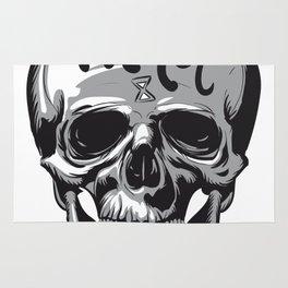 Tic Toc Skull Rug