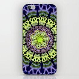 Groovy crackles patterns mandala iPhone Skin