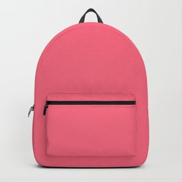 Watermelon Pink Simple Solid Color All Over Print Backpack