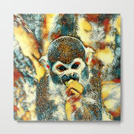 AnimalArt_Monkey_20180204_by_JAMColorsSpecial Metal Print